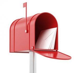 Boîte aux lettres pour domiciliation postale