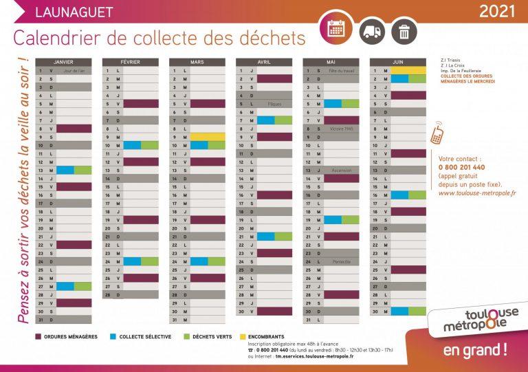 Calendrier collecte déchets Launaguet-1