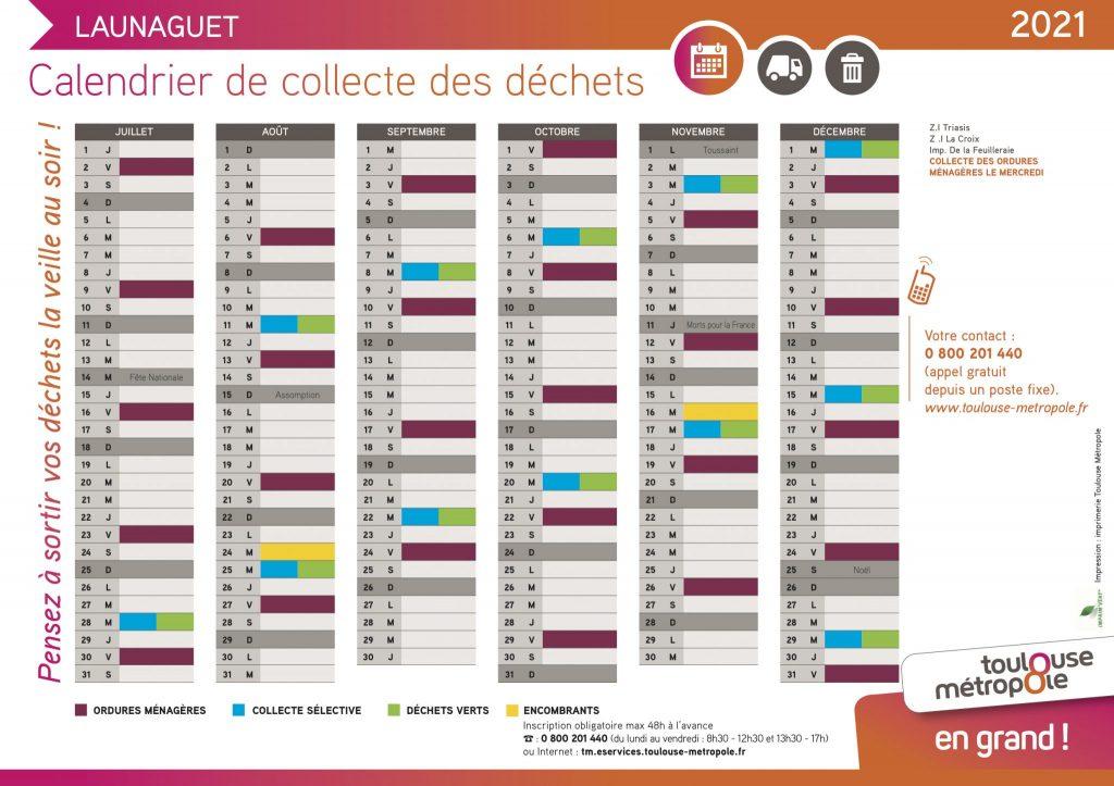 Calendrier collecte déchets Launaguet-2